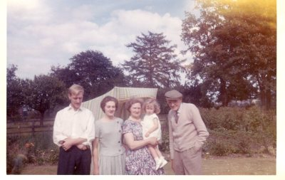 Uncle Arthur, Helen's mother, Grandmother, Helen and Grandfather in Ripon 1962/3