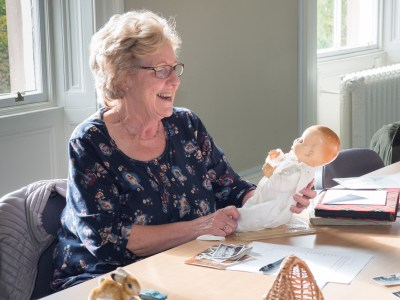 Margaret with her childhood doll