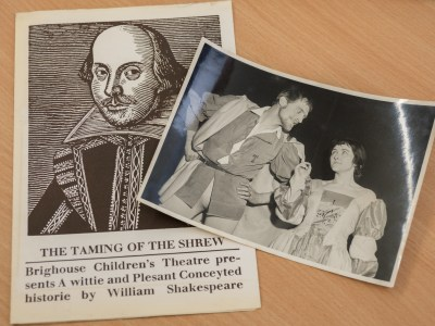 Helen's uncle Arthur in 'The Taming of the Shrew' at Brighouse Children's Theatre - date unknown