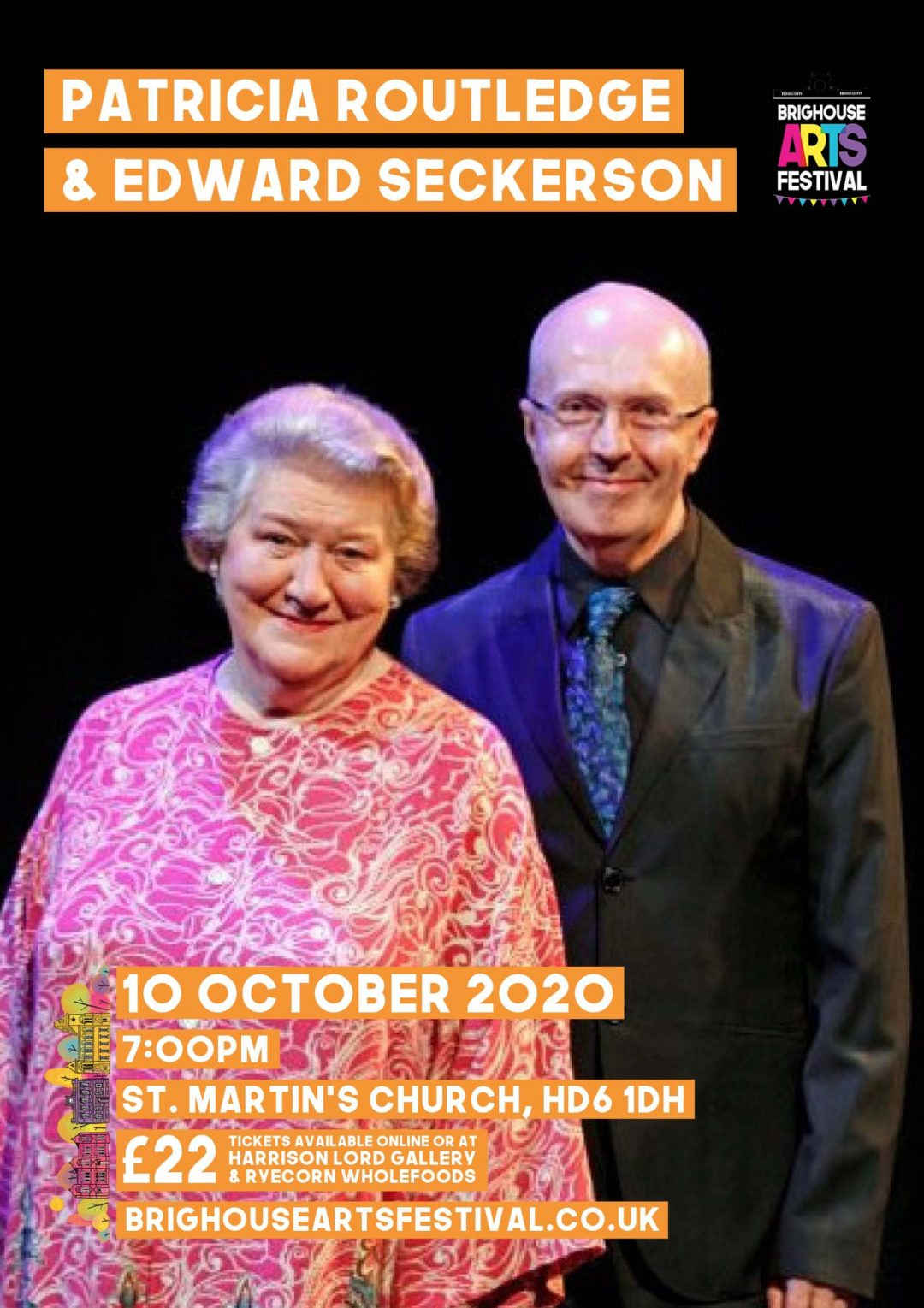 Patricia Routledge and Edward Seckerson - Facing the Music Brighouse Arts Festival Calderdale