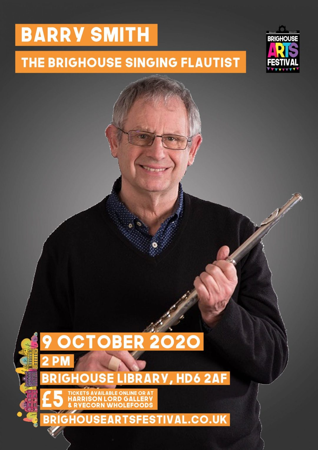 Barry Smith - The Brighouse Flautist - Brighouse Arts Festival