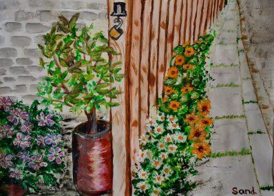 Flowers on the Edge by Sandra Rennie