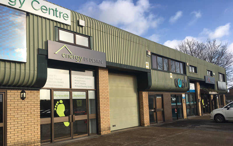 New Low Carbon Energy Centre showroom frontage