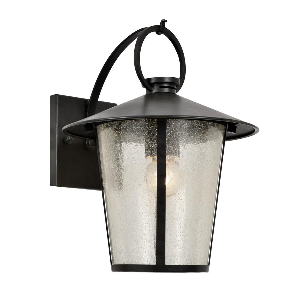 andover outdoor 1 light matte black wall mount