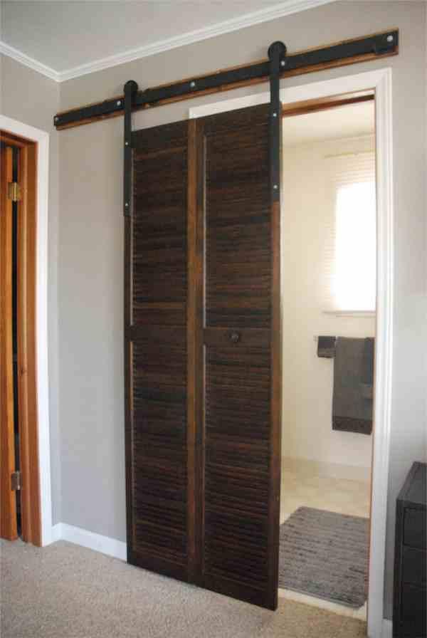 DIY Sliding Door on Track