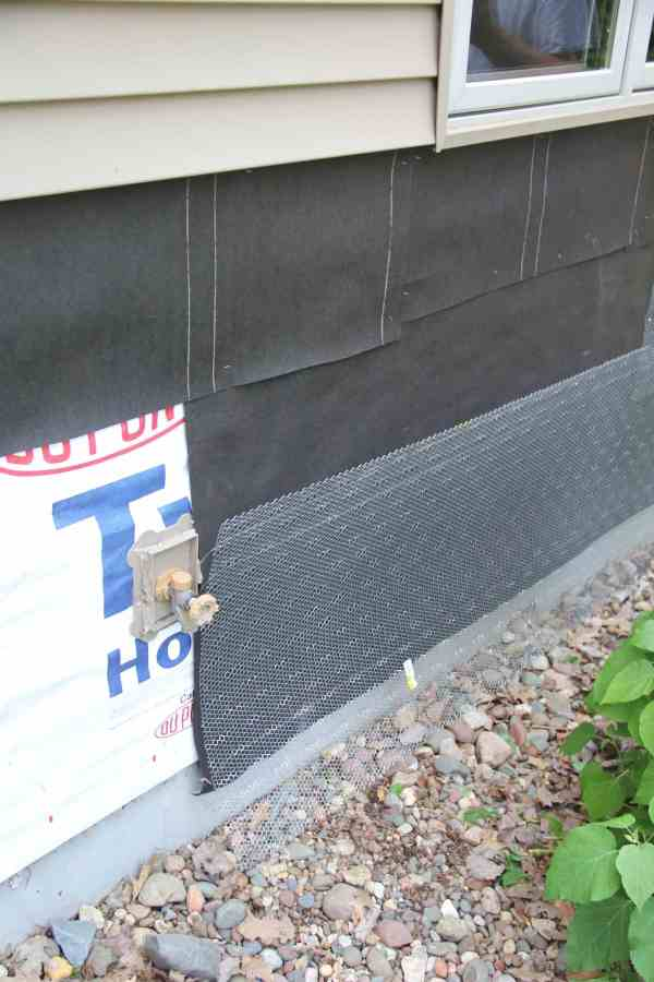 First step to adding Rock to House Exterior