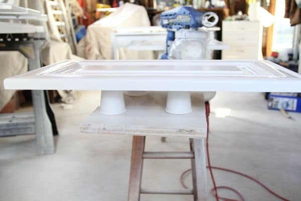 Painting Tip- Use Dixie Cups for Risers