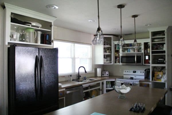 How to paint cabinet surrounds