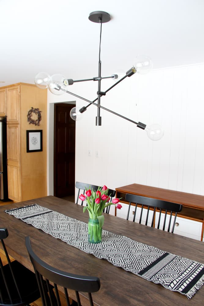Modern Industrial Dining Room Bright Green Door