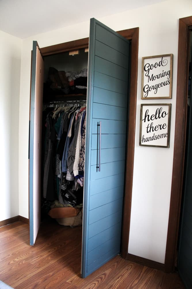 Closet with French Doors