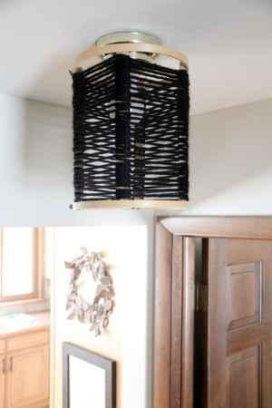 Swap It Like It's Hot- DIY Wood Hoop Light