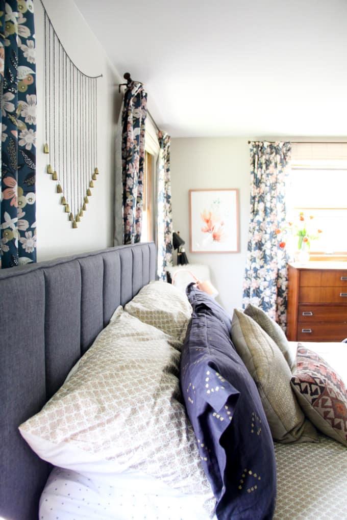 Modern Master Bedroom Reveal Bright Green Door
