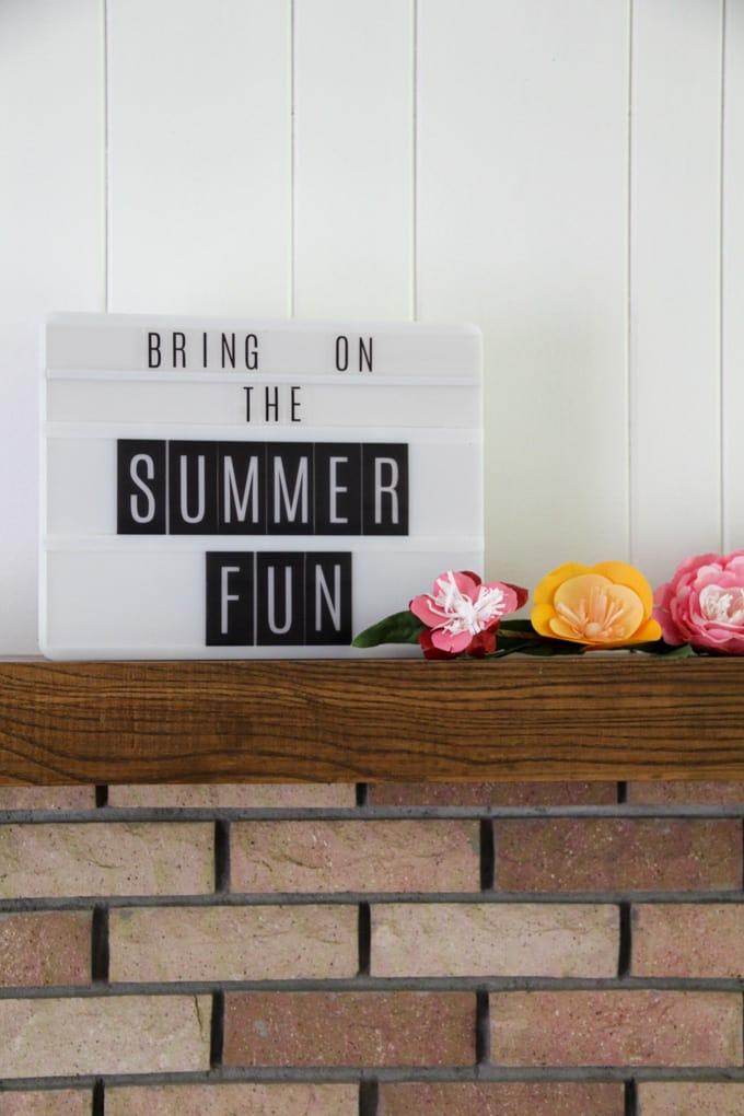 Lightbox for Summer Decor
