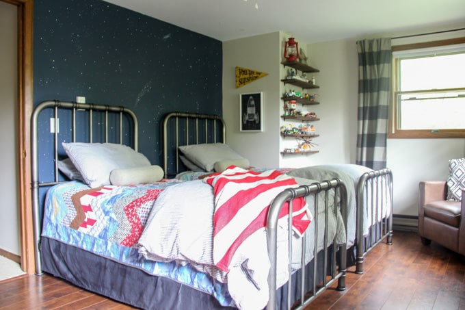 Modern Boys Shared Bedroom