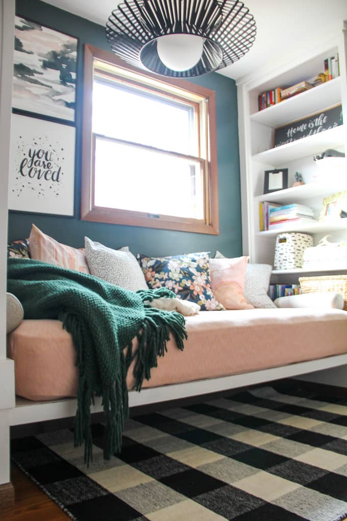 Daybed with Built in Bookshelves