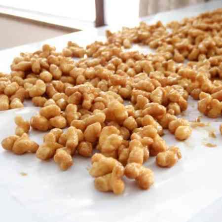 Caramel Corn Recipe with Puff Corn
