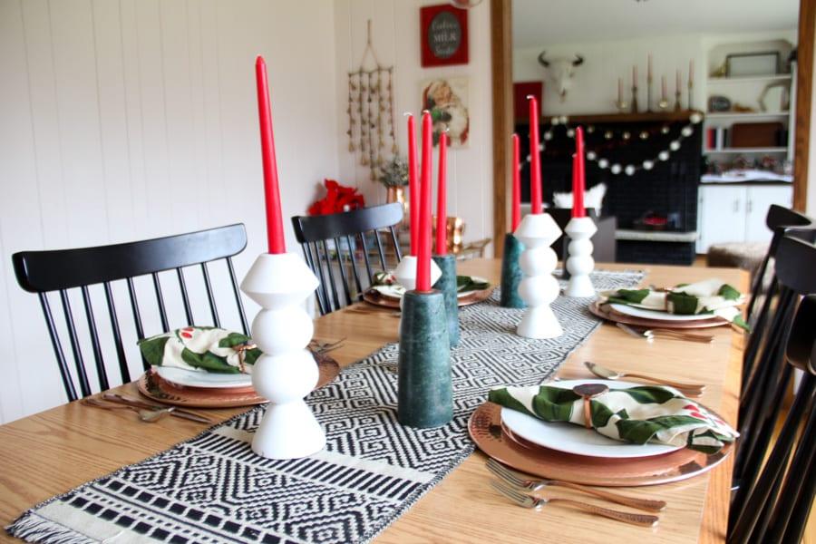 Modern Christmas Dining Table