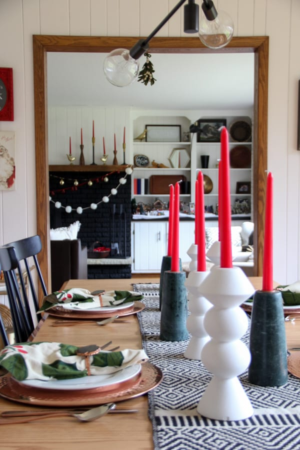 Christmas Dining Tablescape
