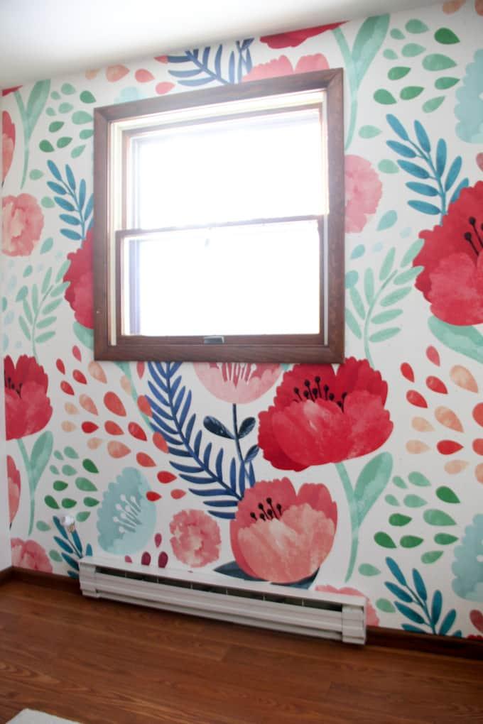 Girly Wallpaper Around Window