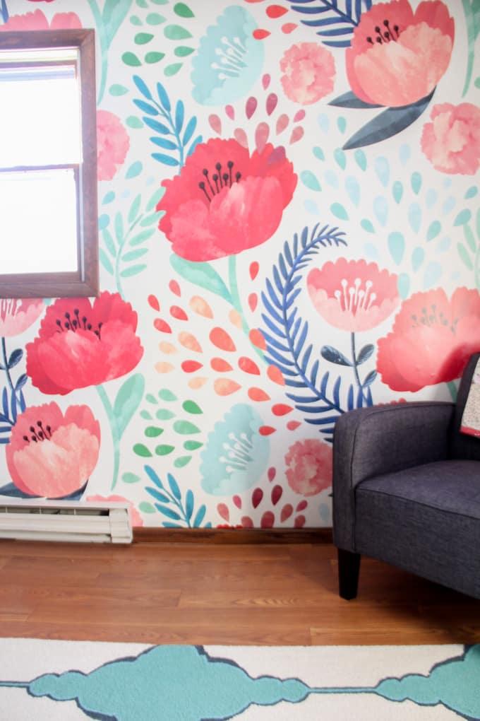 Modern Floral Wallpaper