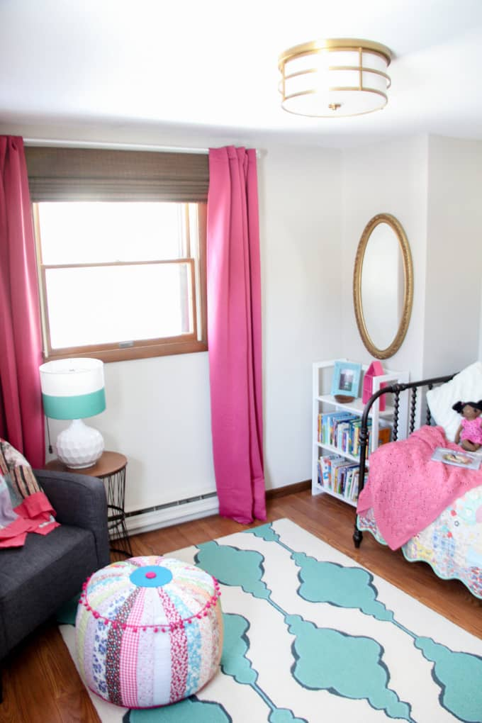 Modern Pink and Blue Girl Bedroom