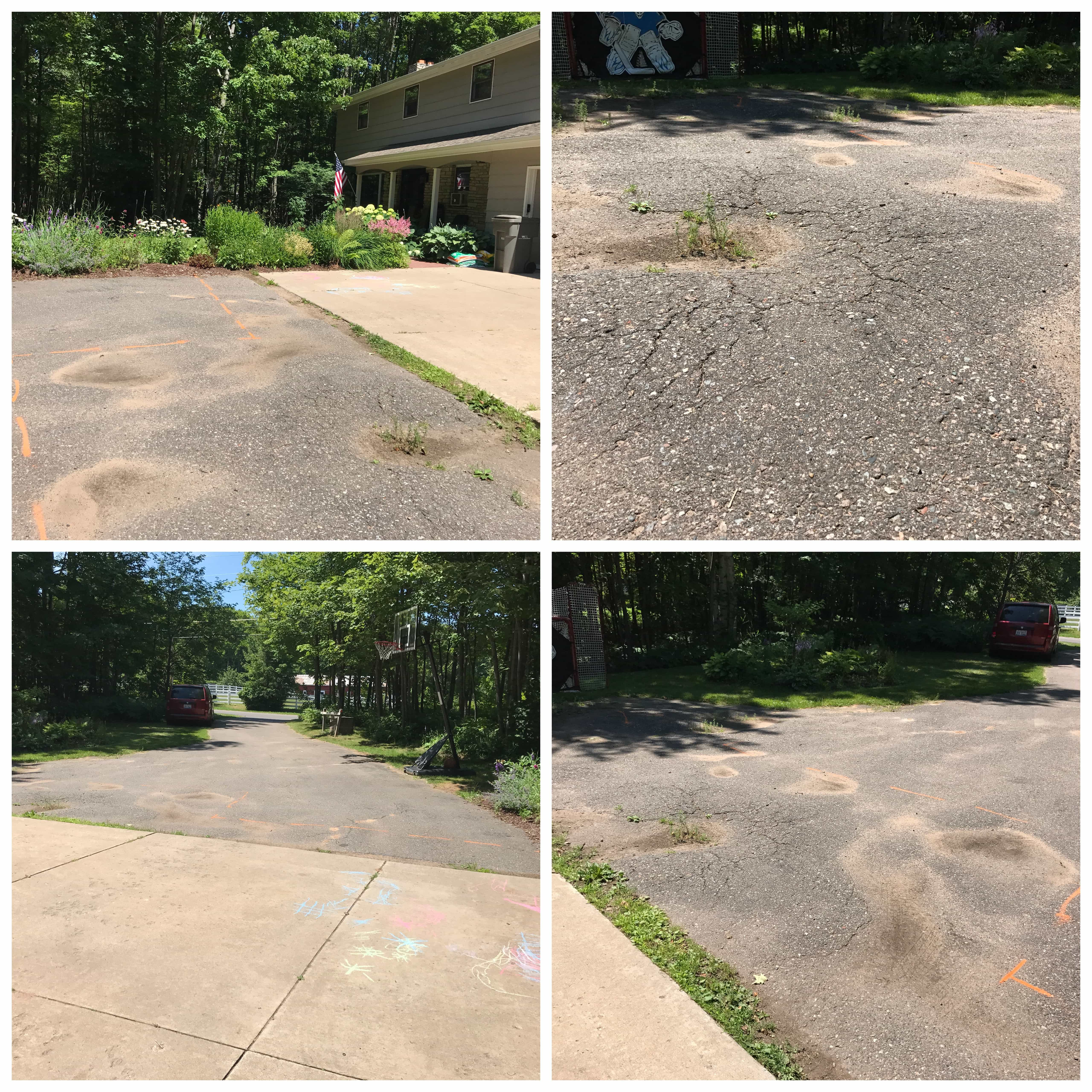 How We Saved A Ton Of Money On Our Driveway Repair Bright Green Door