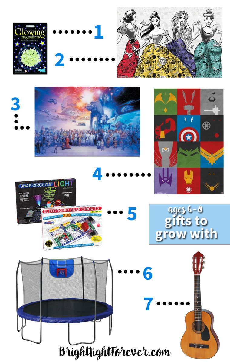 Awesome grow-with-me gift ideas for first and second graders! | Holiday Gift Guide for Ages 6-8