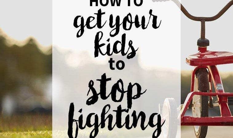 How to Help Kids Stop Fighting