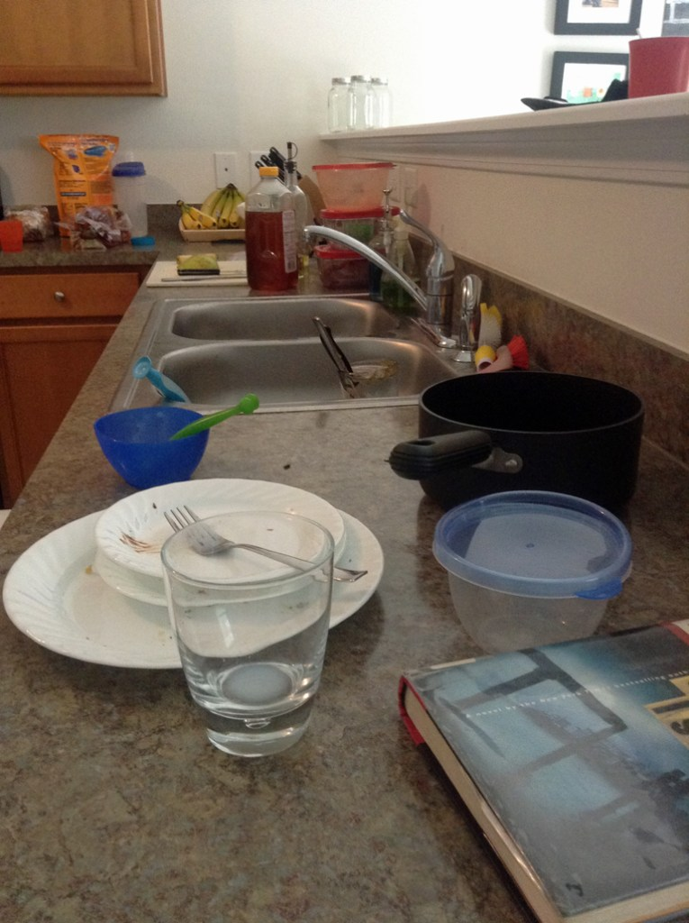 to the mom with the dirty dishes