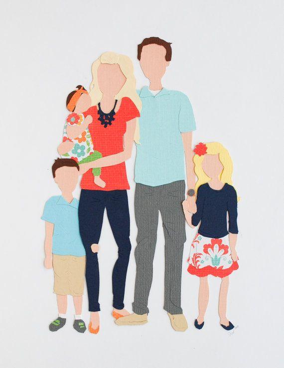 Papercut Family Portrait | BrightLightShop.com