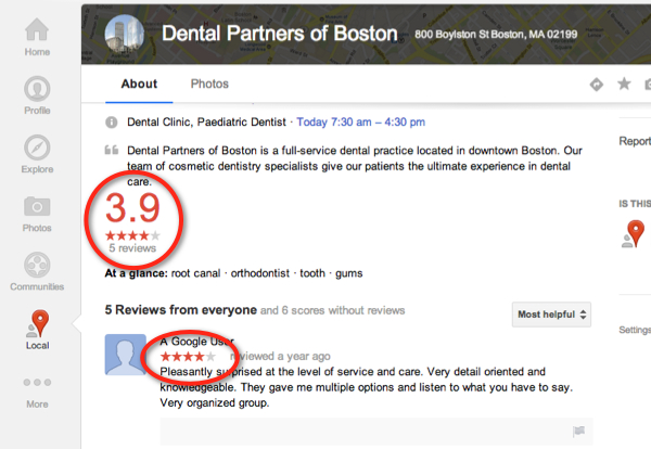 Google+ Local page design updates being tested