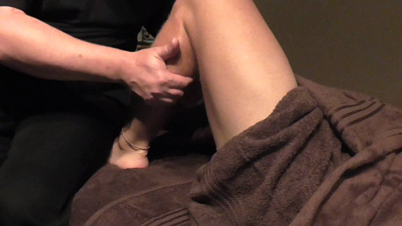 Basic Gastrocnemius front Massage Demonstration by Brighton Holistics