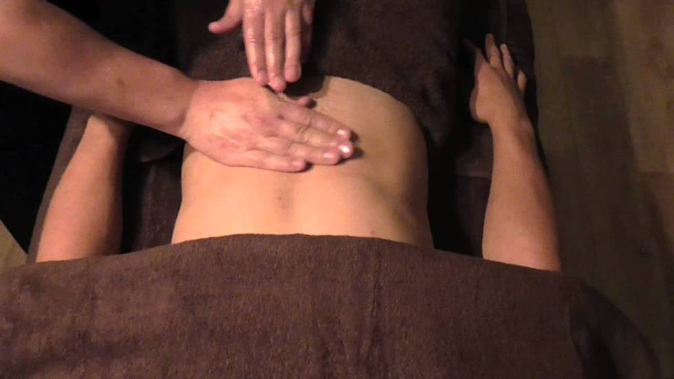 The Abdomen Massage Demonstration by Brighton Holistics