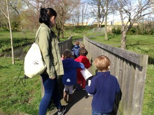 Outdoor nursery adventures with the children in the park