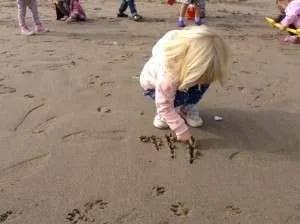 Playing on Portobello Beach