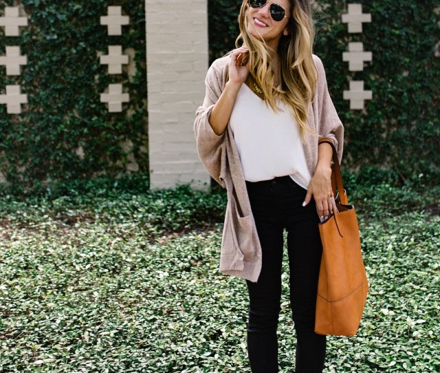 Black Jean Outfit Idea Transitional Outfit Idea Cute Outfit With Black Jeans