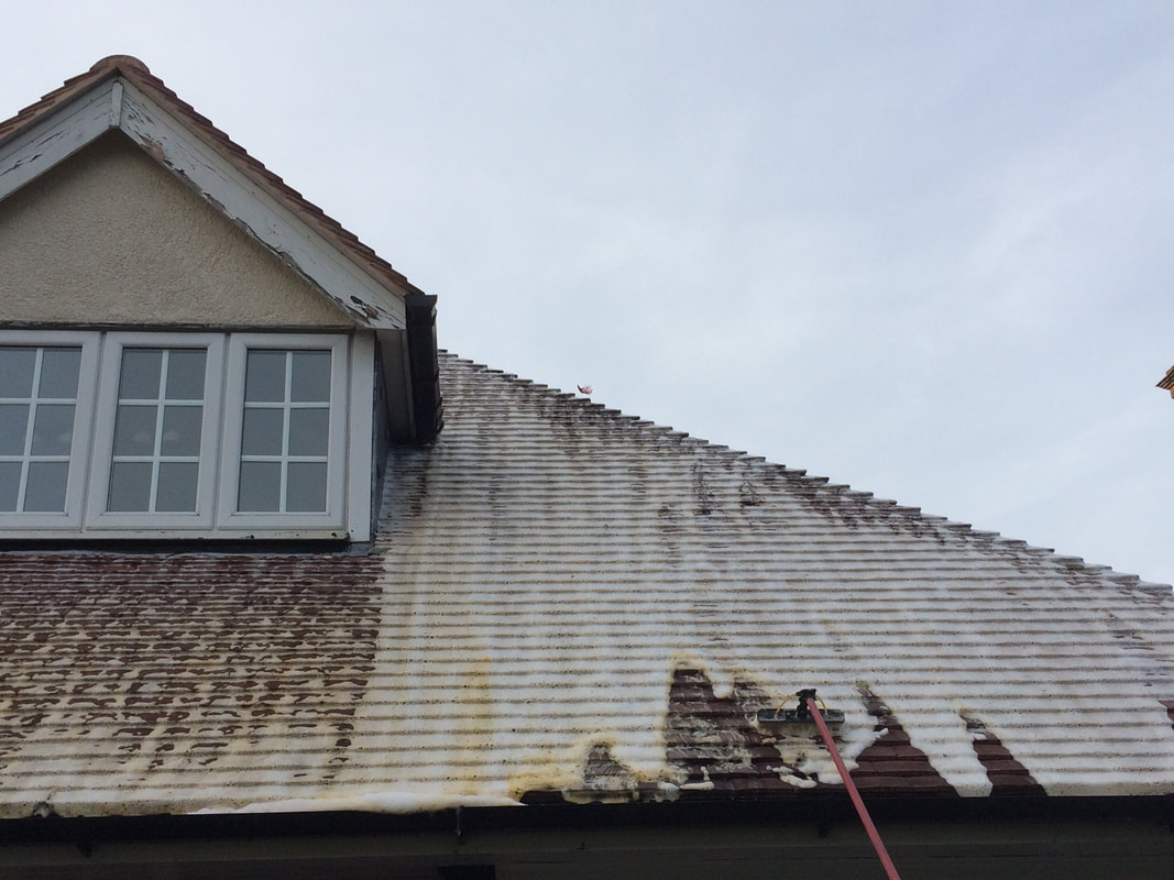 Soft Wash Roof Cleaning In Telford