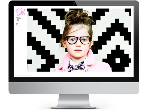 Kourtney Sellers website branding by Tippi Thole of Bright Spot Studio