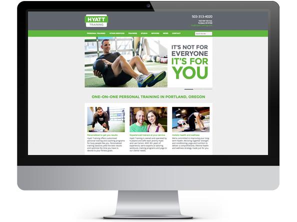 Bright Spot Studio website design for Hyatt Training