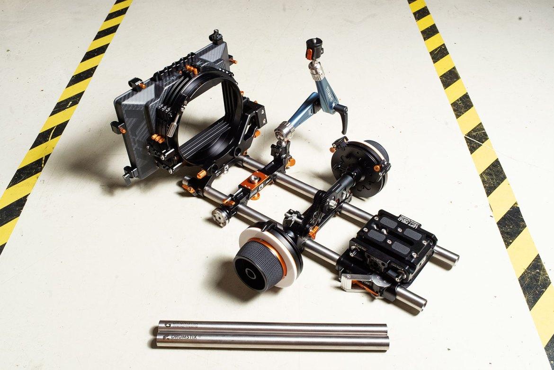 Drumstix skeleton rig with various Bright Tangerine accessories