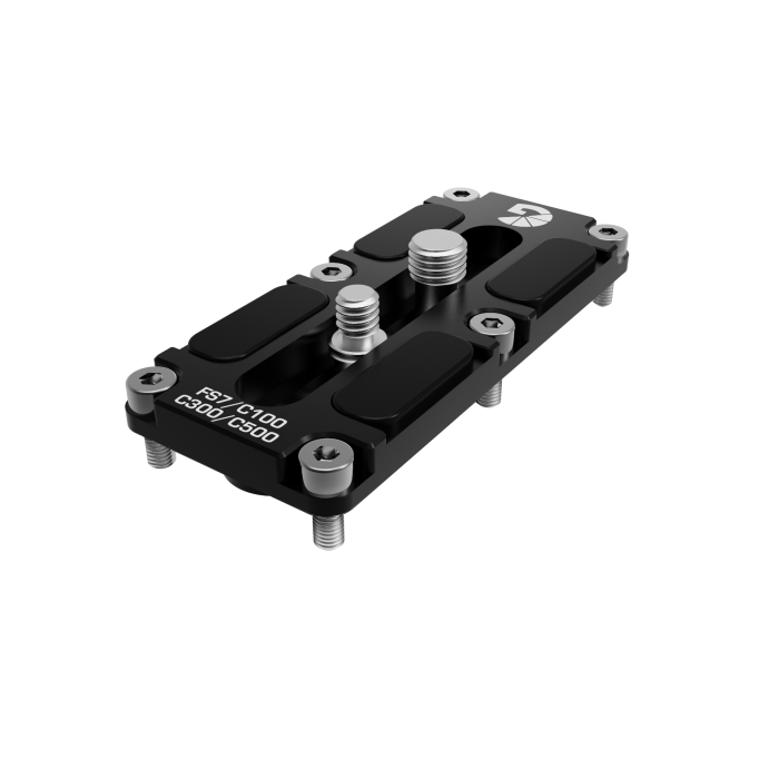 B4005 1006 Canon C100 C300 C500 Sony FS7 Riser for 15mm Baseplate 01