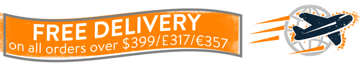 Free delivery on all orders over $399 / £317 / €357