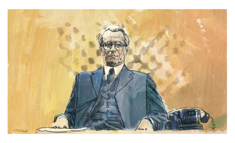 Gary Oldman in Tinker Tailor Soldier Spy | art by Tony Stella