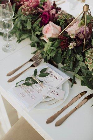 Δεξίωση Γάμου Μενού και καρτελάκια