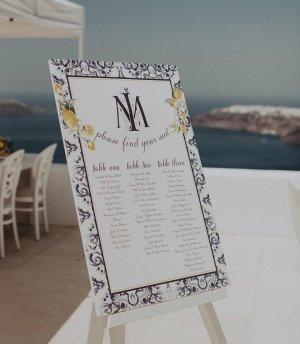 Πινακίδα γάμου welcome sign με ρουστίκ λογότυπο