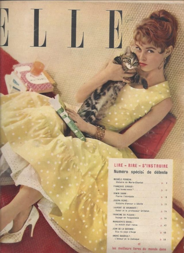 Modelled for ELLE and Paris Match from 1949