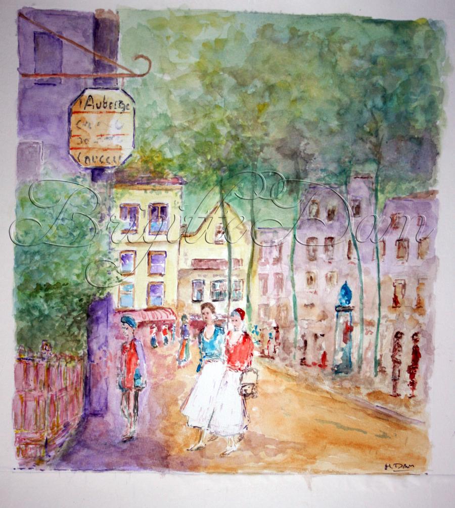 Beautiful watercolor paintings by my grandfather, Herman Dam