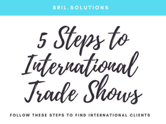 5 Steps Trade Show international business development
