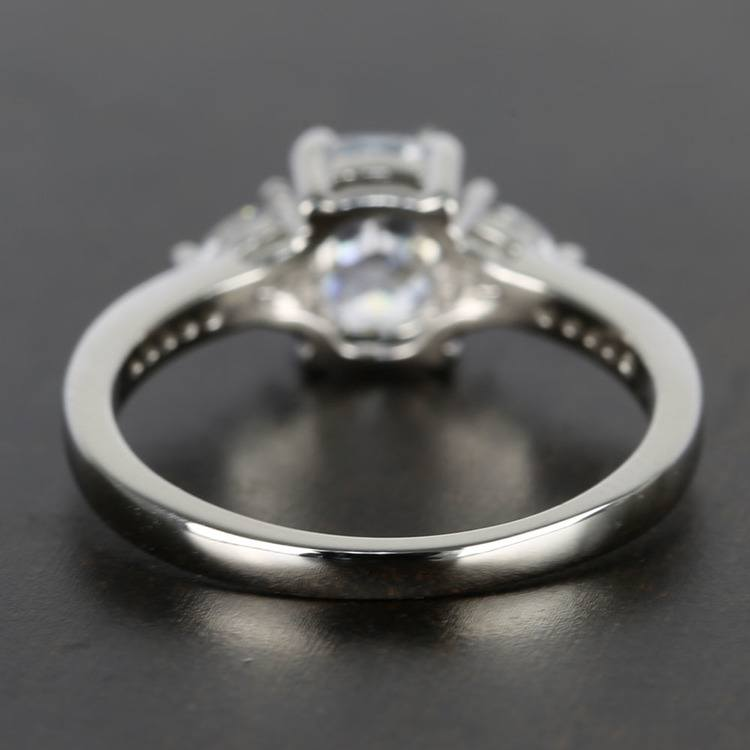 Custom Oval Amp Trillion Cut Diamond Engagement Ring 1 Carat
