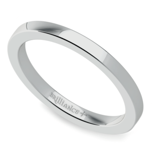 Find the Most Beautiful Women s Wedding Rings Online Flat Wedding Ring in White Gold  2mm